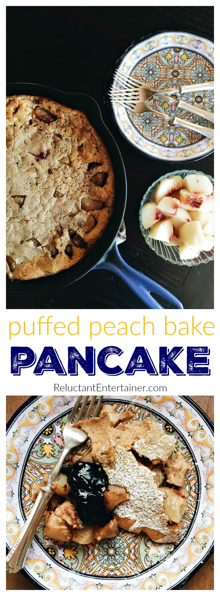 Puffed Peach Bake Pancake