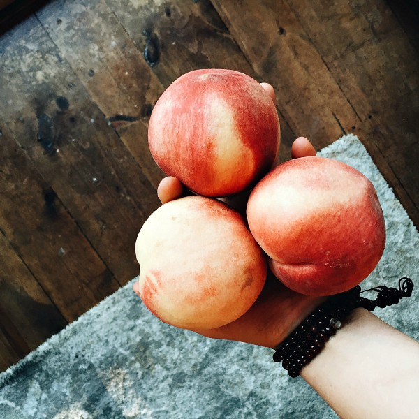 Best Peach Tart - white peaches