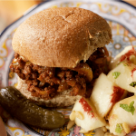 Sloppy Joes Recipe made with fresh vegetables, fennel, lean ground beef, and delicious spices - perfect for any season for casual entertaining at ReluctantEntertainer.com