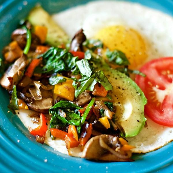 Sunny Side Up Egg Breakfast