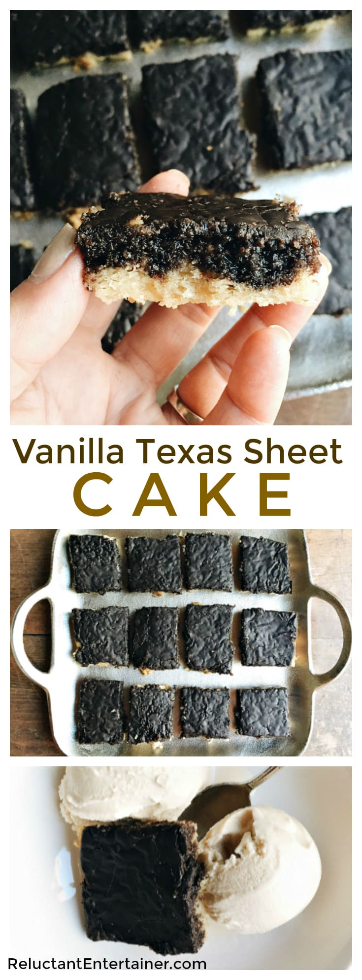 Vanilla Texas Sheet Cake Recipe feeds a crowd, and is delicious served with Old-Fashioned Homemade Vanilla Ice Cream.