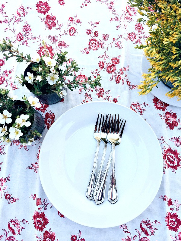 Old-Fashioned Homemade Vanilla Ice Cream - table