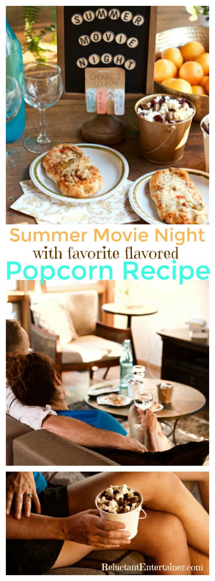 Create a lasting memory of fun and relaxation for a Summer Movie Night, and your favorite flavored popcorn   ReluctantEntertainer.com