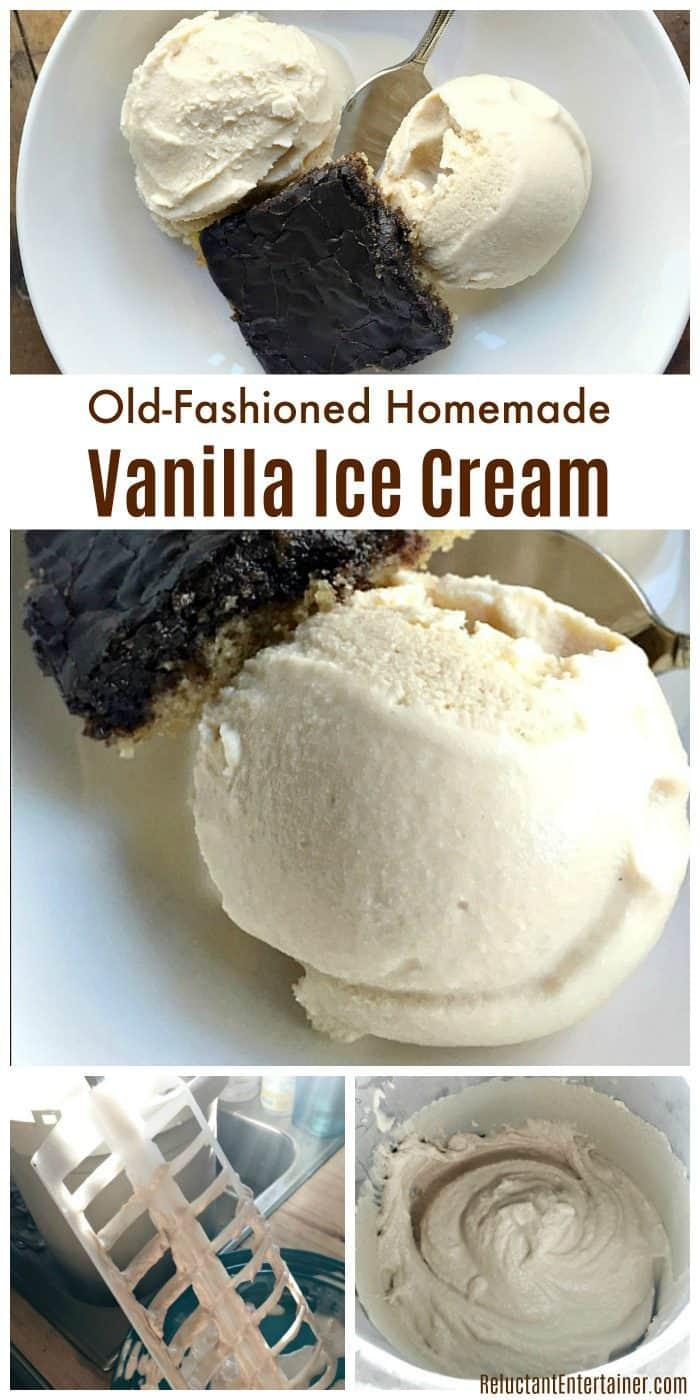 Old-Fashioned Homemade Vanilla Ice Cream Recipe
