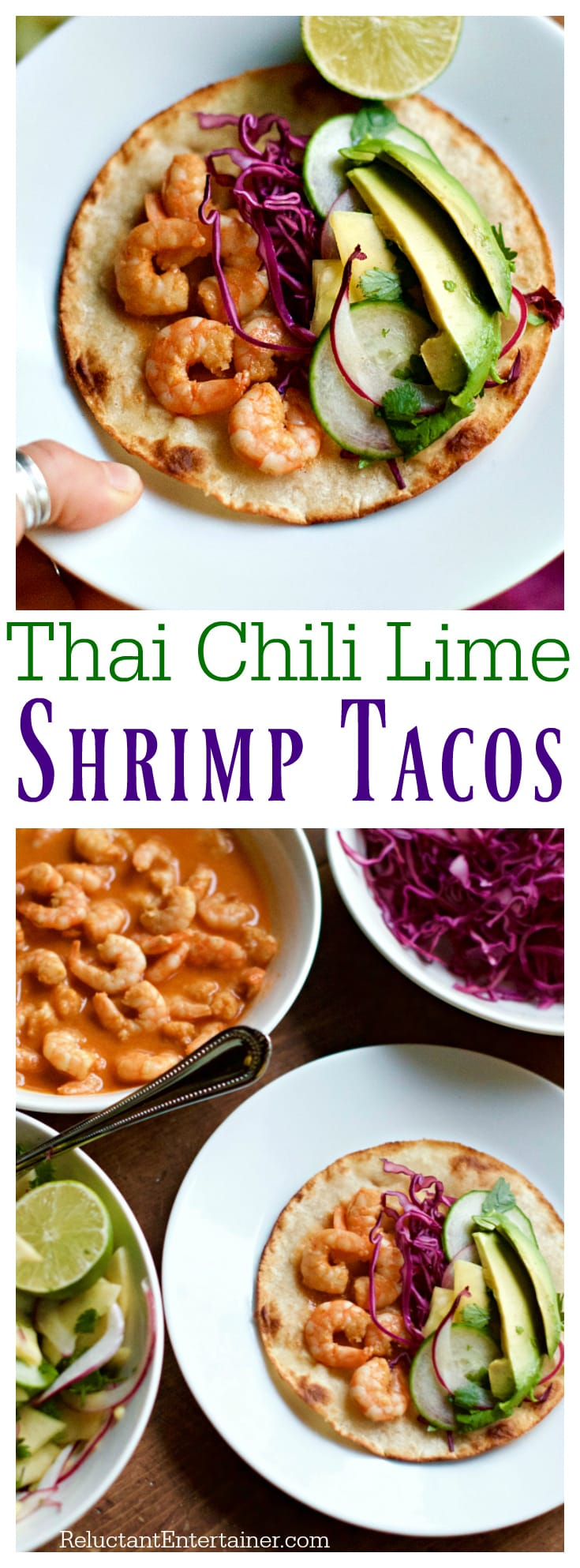 Thai Chili Lime Shrimp Tacos