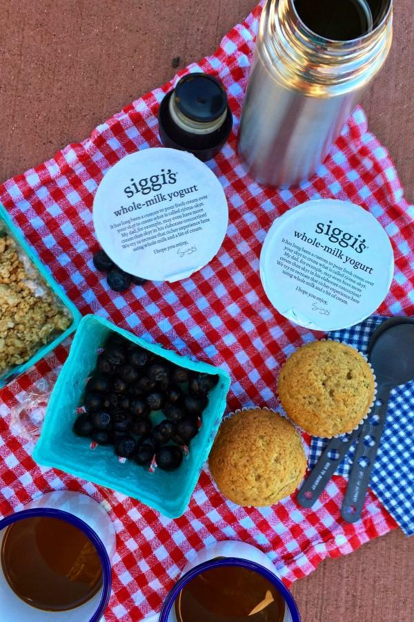 Hiking with siggi's yogurt breakfast