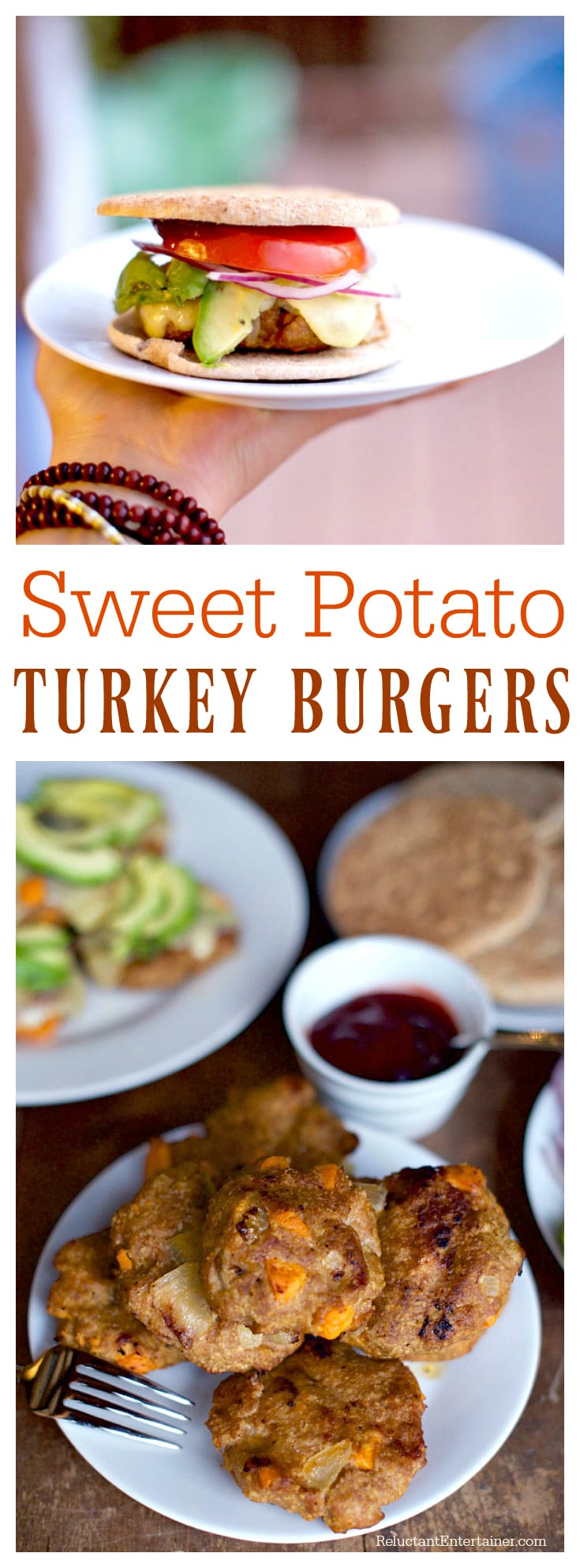 Sweet Potato Turkey Burgers at ReluctantEntertainer.com
