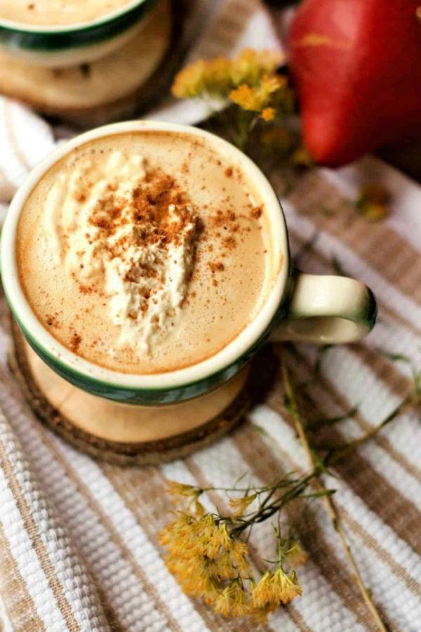 Real Pumpkin Spice Latte recipe in mugs