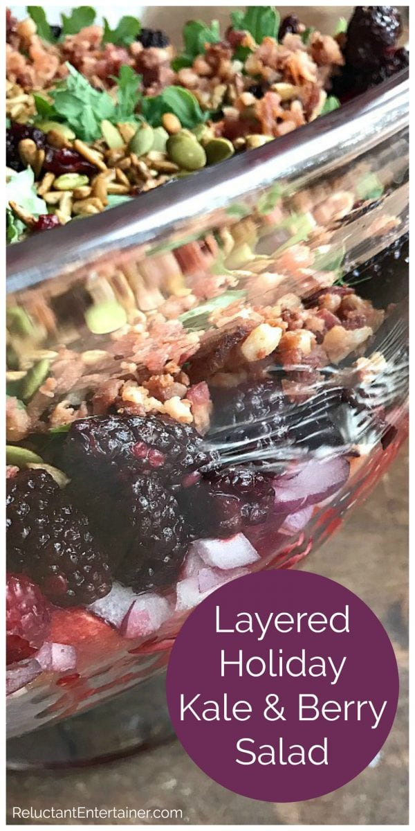 beautiful bowl of layered kale salad