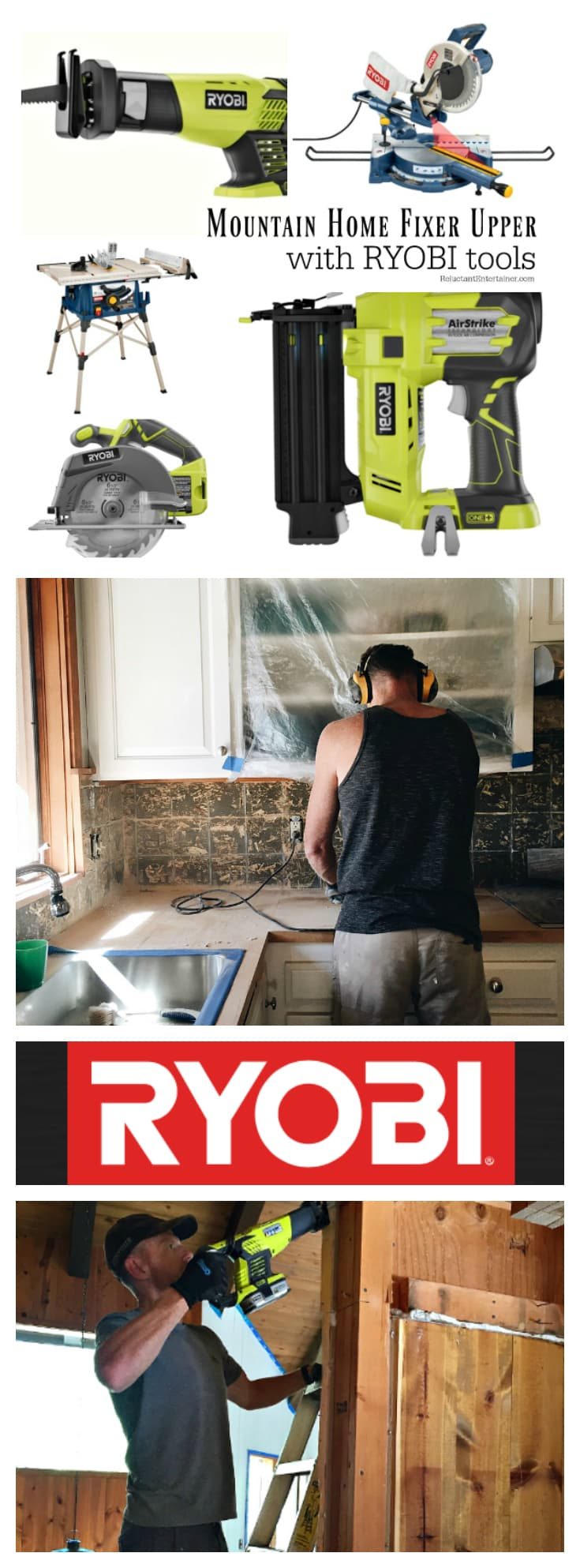 Mountain Home Fixer Upper with Ryobi Tools at ReluctantEntertainer.com
