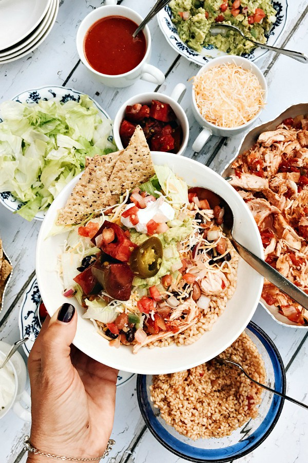 Chicken Rice Taco Bowls Recipe