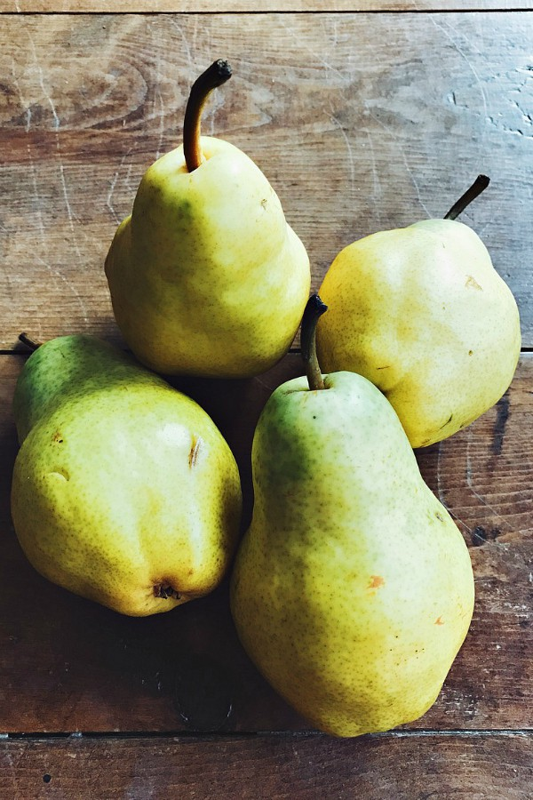 Pear Walnut Crostini Appetizer