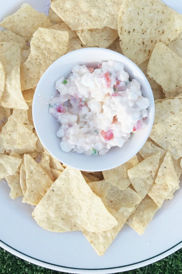 Creamy Cottage Cheese Salsa Dip at ReluctantEntertainer.com
