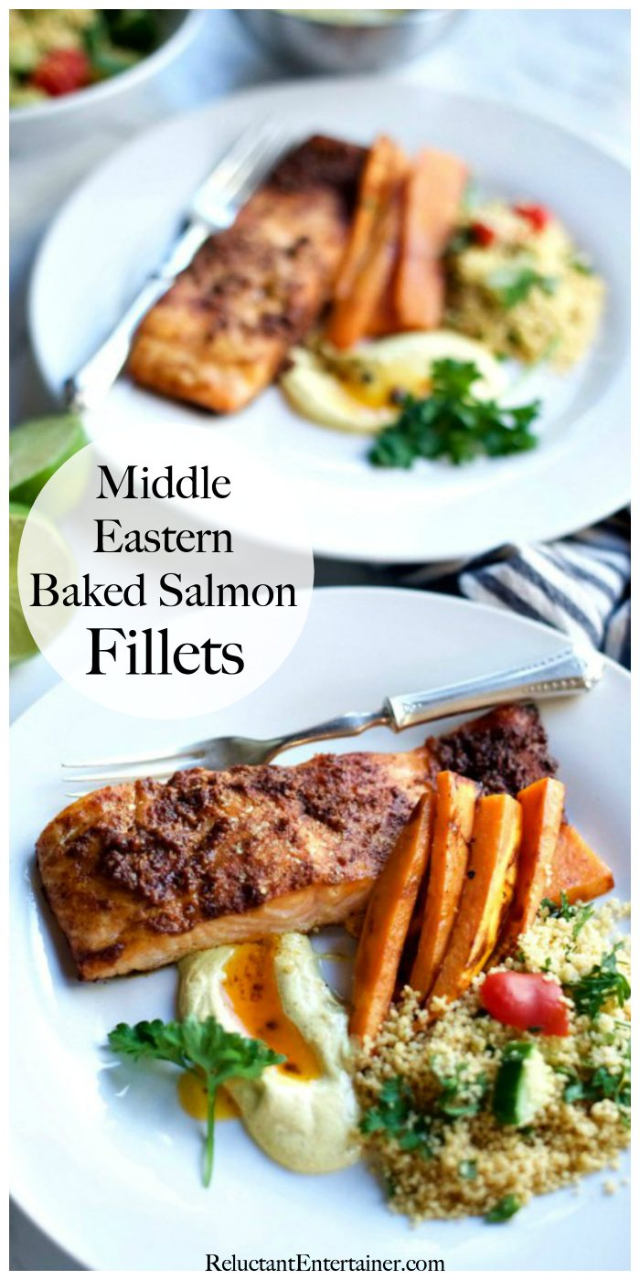Middle-Eastern Baked Salmon Fillets Recipe