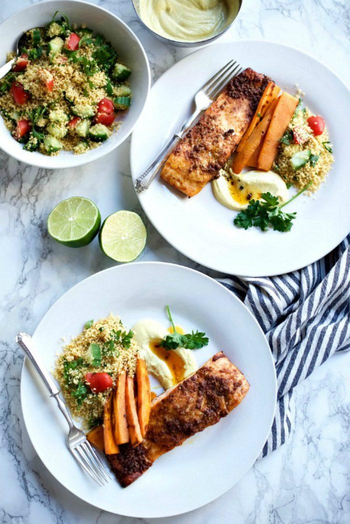 BEST Middle-Eastern Baked Salmon Fillets