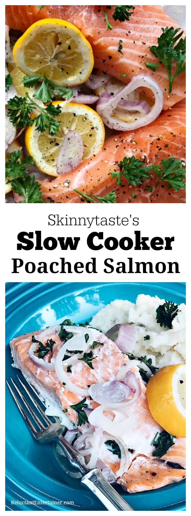 Skinnytaste's Slow Cooker Poached Salmon