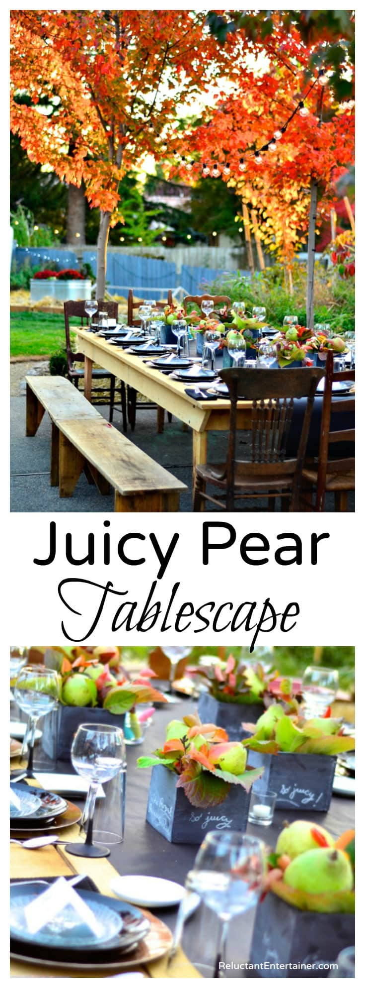 Juicy Pear Tablescape