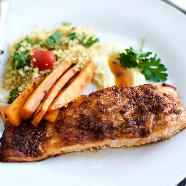 Middle-Eastern Baked Salmon Fillets