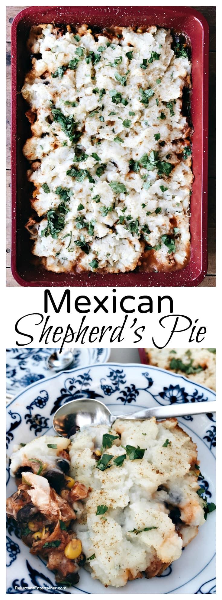 Mexican Shepherd's Pie Recipe at ReluctantEntertainer.com