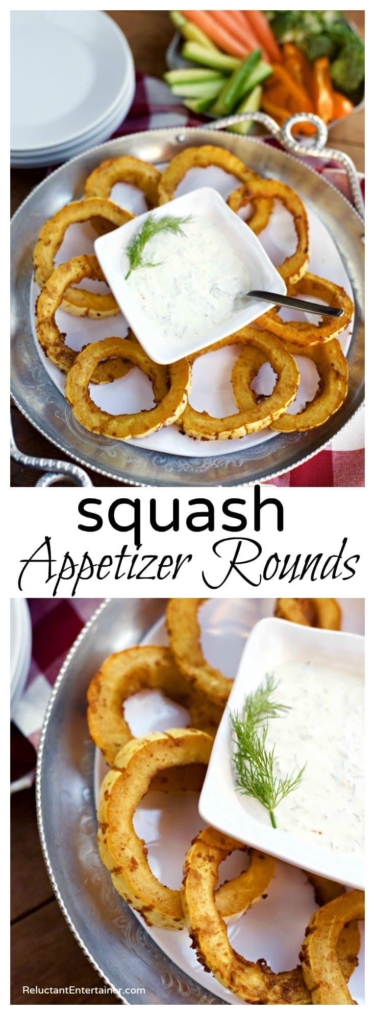Squash Appetizer Rounds Recipe