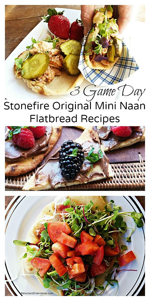 3 Game Day Recipes with Stonefire Original Mini Naan Flatbread Recipes