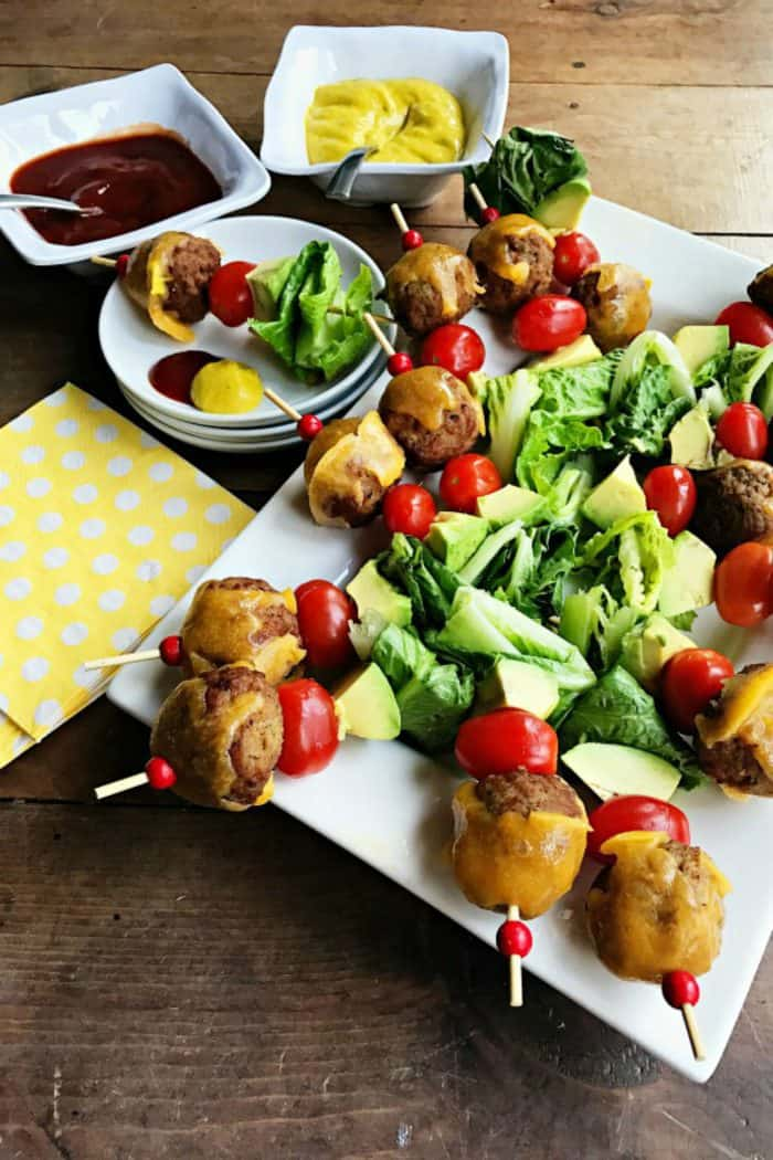 Tasty Avocado Cheeseburger Meatballs Appetizer