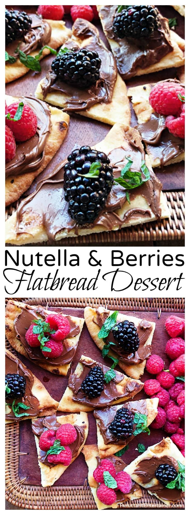 Nutella & Berries Flatbread Dessert