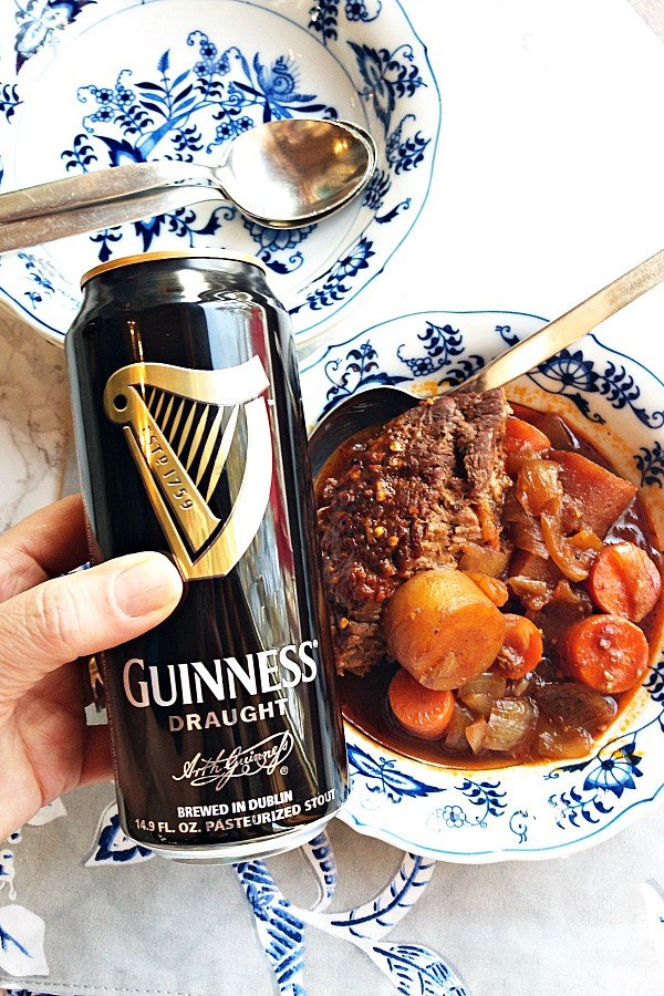 makign Guinness Beer Beef Chuck Roast Recipe
