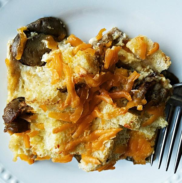 Sausage Mushroom Strata Recipe