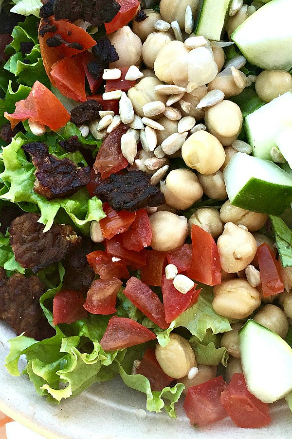 Garbanzo Bean Bacon Chopped Salad