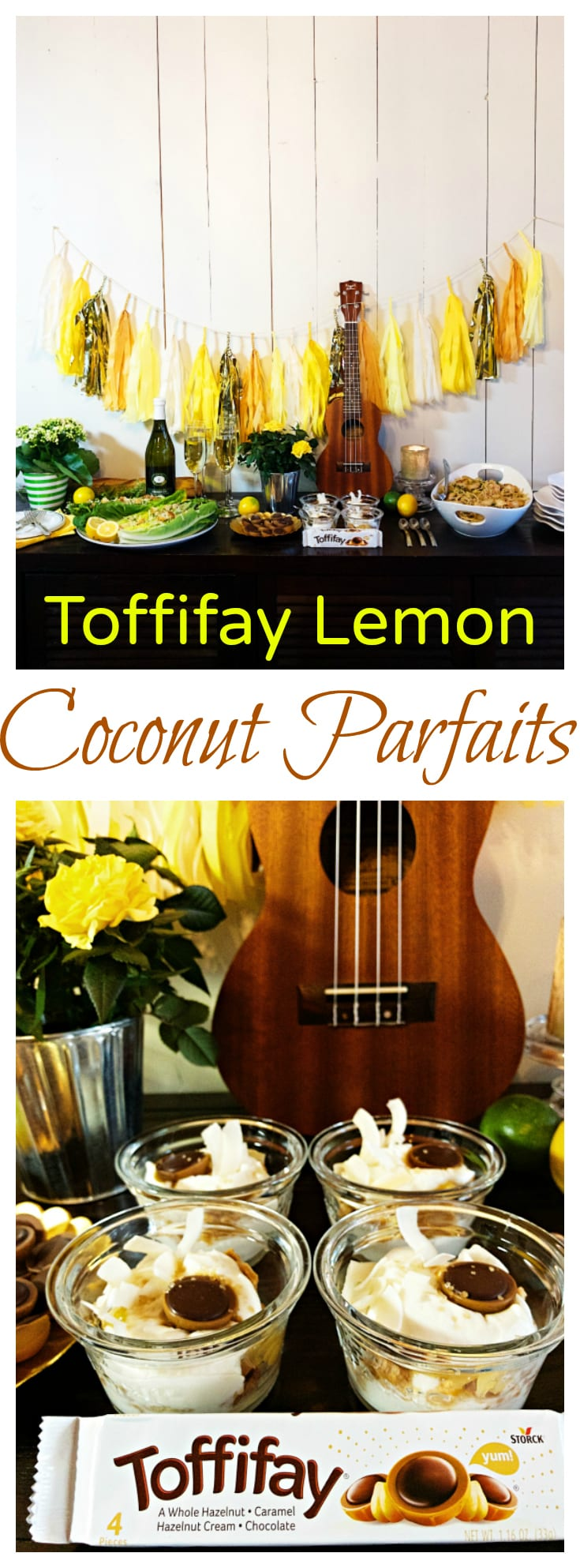 Toffifay Lemon Coconut Parfaits