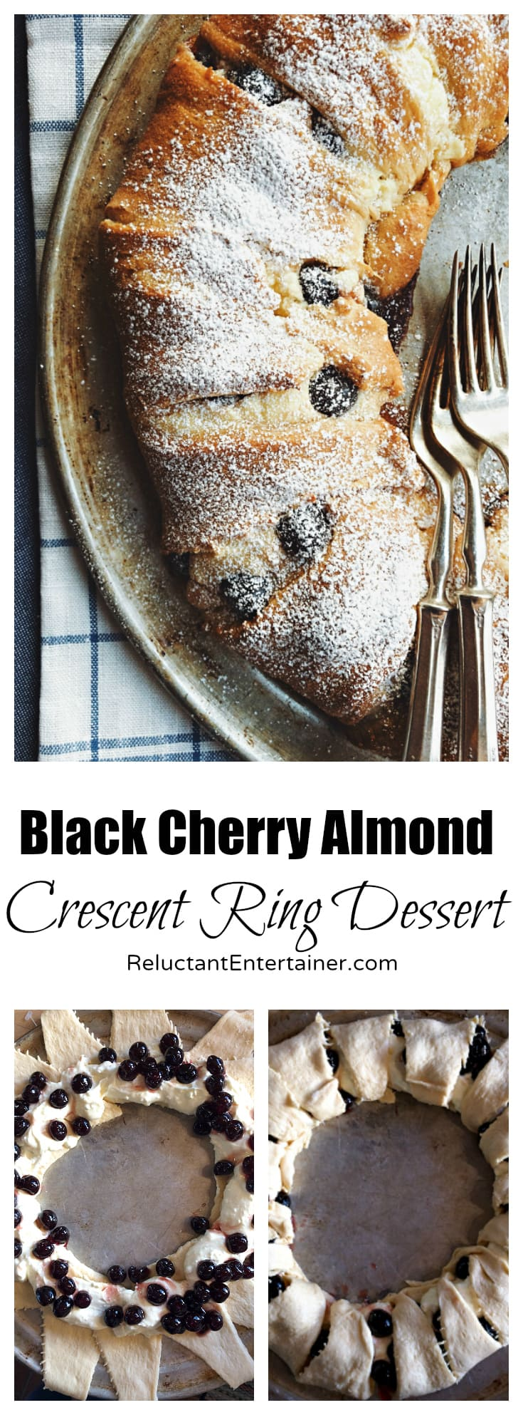 Black Cherry Almond Crescent Ring Dessert