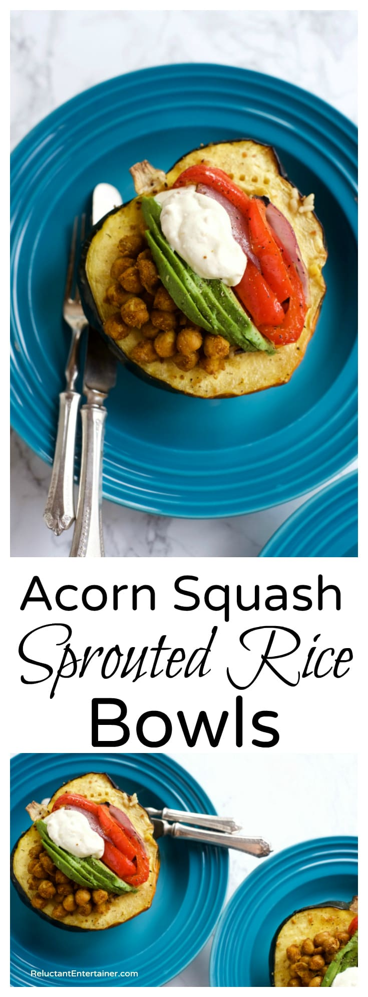 Acorn Squash Sprouted Rice Bowls