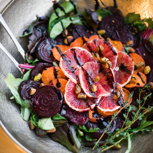Roasted Beet And Yam Salad With Balsamic Glaze And Blood Orange Reluctant Entertainer