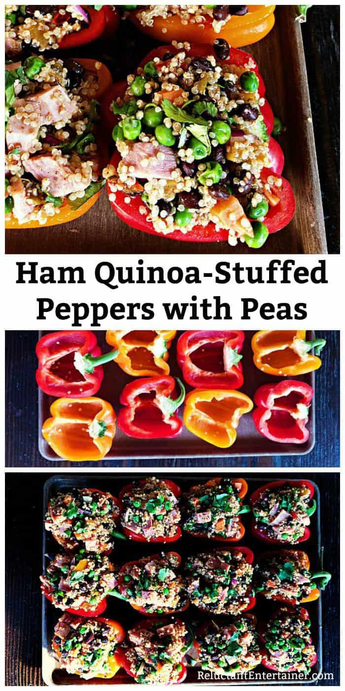 Ham Quinoa-Stuffed Peppers with Peas Recipe