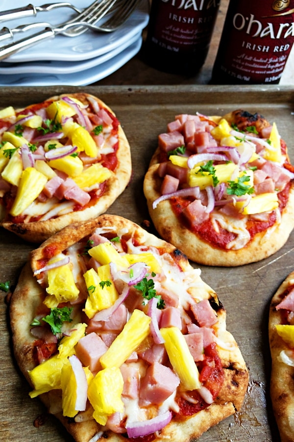 Pineapple Ham Flatbread Pizza Recipe