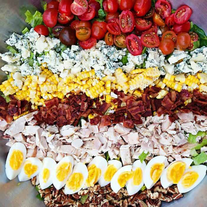 Best Southern Cobb Salad with Sweet Onion Dressing