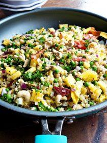 Cauliflower Bacon Fried Rice Recipe