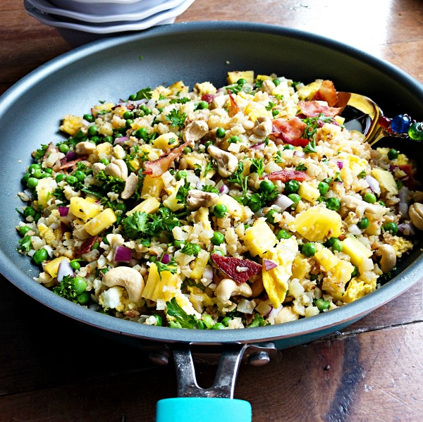 Cauliflower Bacon Fried Rice Recipe
