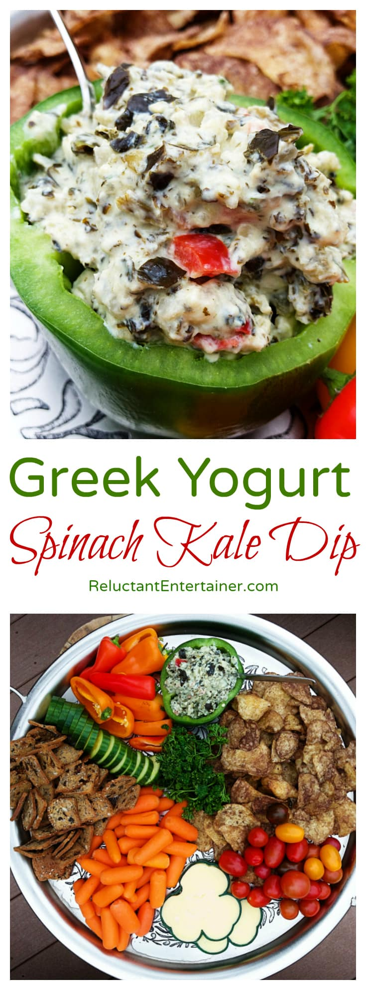 Greek Yogurt Spinach Kale Dip Recipe