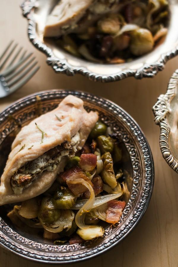 Fig Goat Cheese Rosemary-Stuffed Chicken