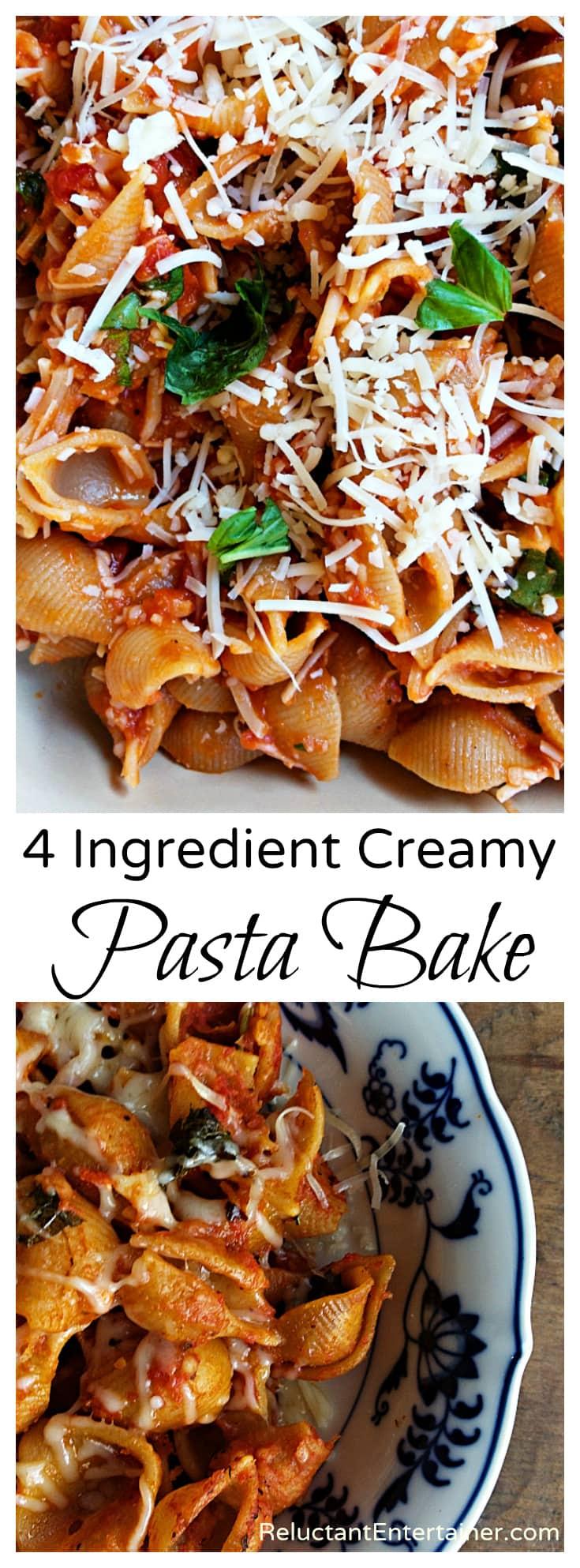 4 Ingredient Creamy Pasta Bake