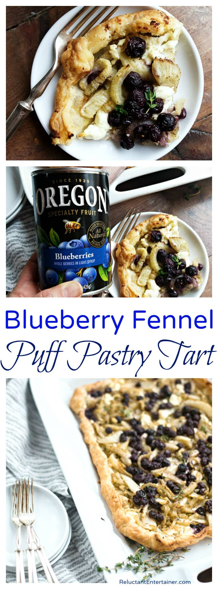 Blueberry Fennel Puff Pastry Tart Recipe