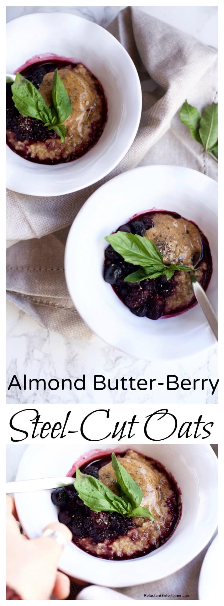 Almond Butter Berry Steel-Cut Oats