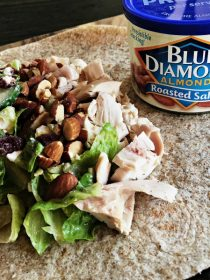Cranberry Almond Chicken Salad Wrap