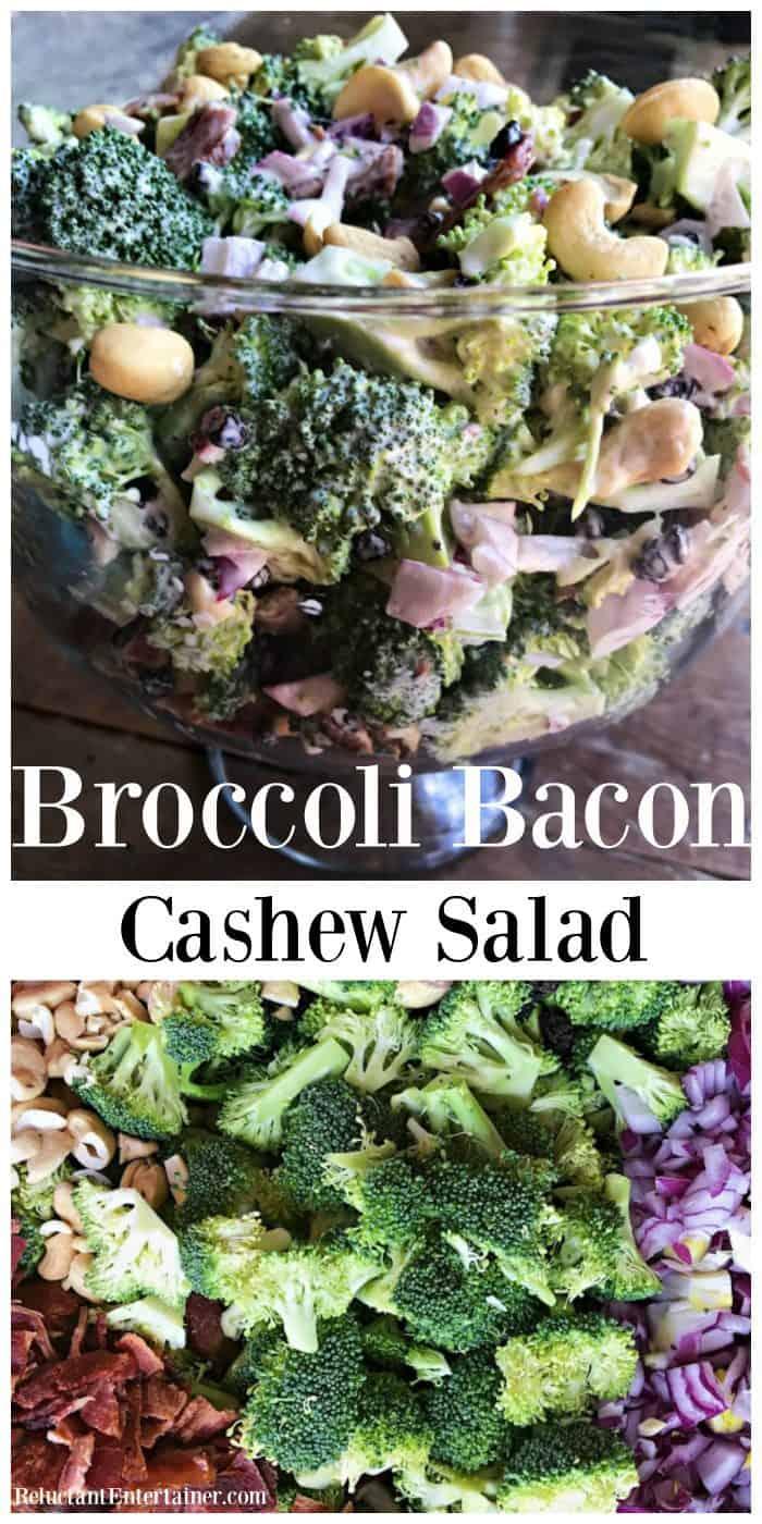 BEST EVER Broccoli Bacon Cashew Salad Recipe