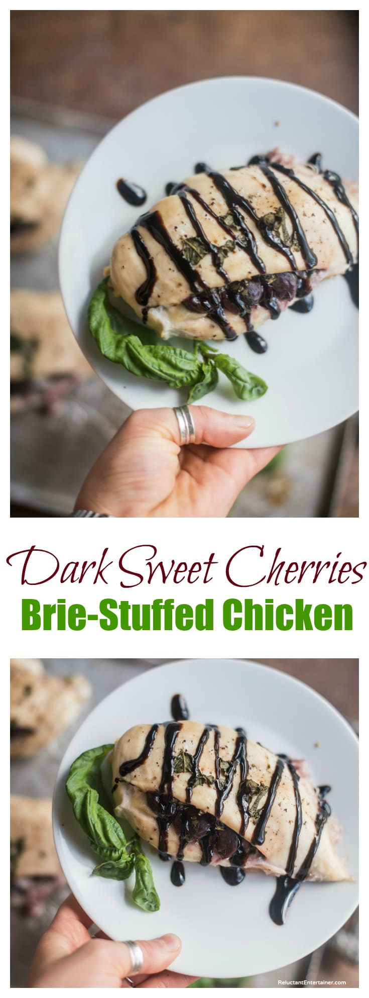 Dark Sweet Cherries Brie-Stuffed Chicken