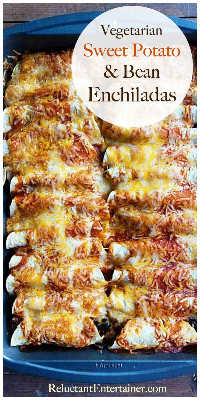 Vegetarian Sweet Potato Bean Enchiladas Recipe