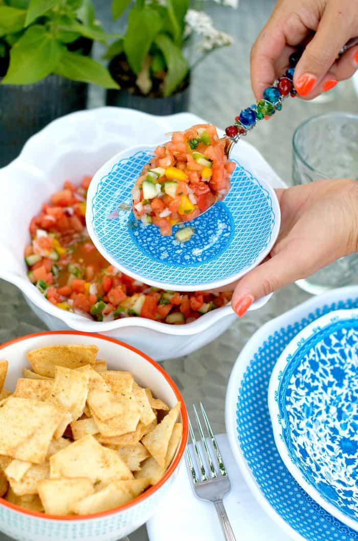 Easy Summertime Watermelon Salsa Recipe