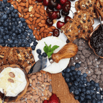 Almond Summer Berry Cheese Board